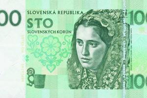 Slovenských motívov má na bankovkách Gábriš pomenej, ale sú. Na jednom z nich je dievča v kroji z fotografie Karola Plicku.