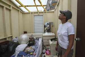 Škody v Portoriku.
