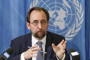 Vysoký komisár OSN pre ľudské práva Zajd Raad Husajn.
