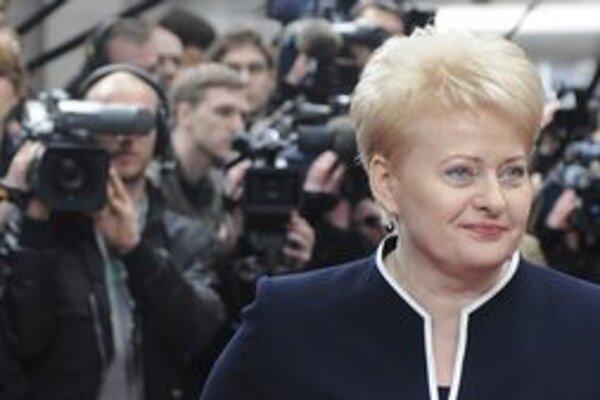 Litovská prezidentka Dalia Grybauskaite.