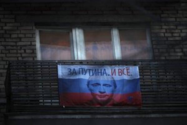 Putinova tvár je teraz v Rusku na každom kroku.