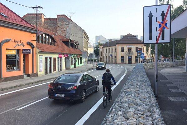 Cyklotrasa v Trenčíne.
