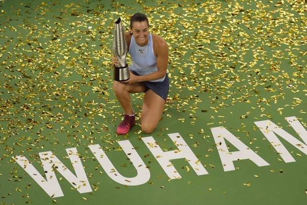 Francúzska tenistka Caroline Garciová vyhrala turnaj vo Wu-chane.