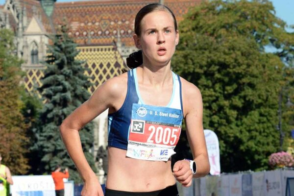 Veronika Zrastáková vyhrala polmaratón v Košiciach.