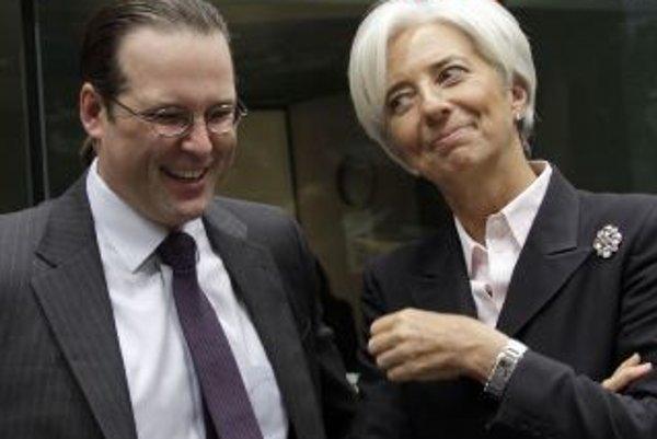 Anders Borg má v ekonomike uznanie zahraničných kolegov. Šéfka Medzinárodného menového fondu Christine Lagardová (vpravo) dúfa, že mu elán vydrží.