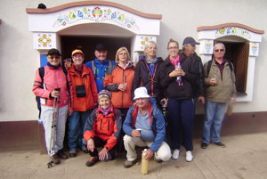 Senickí turisti na Morave