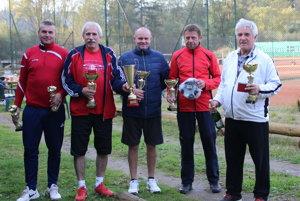 Finalisti tenisového turnaja štvorhier oputovný pohár Kysuckého trianglu.