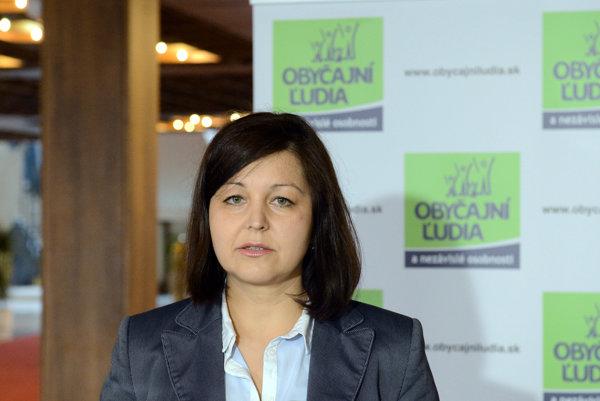 Erika Jurinová (OĽaNO).