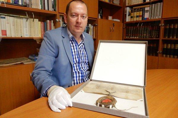 Riaditeľ Štátneho archívu v Košiciach Richard Pavlovič.