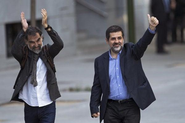 Jordi Cuixart (vľavo) a Jordi Sanchez.