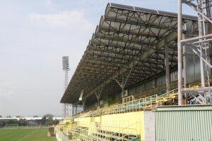 Futbalový štadión v Prievidzi.