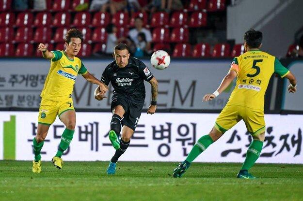 V akcii počas zápasu.