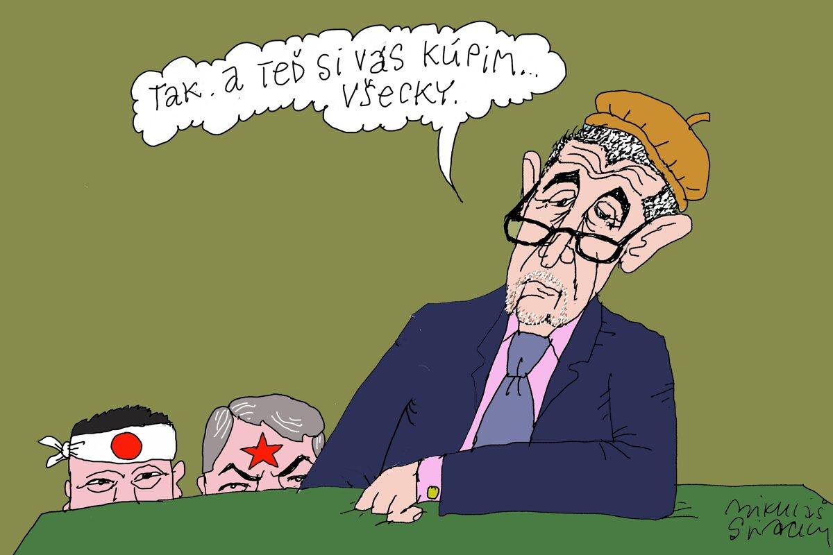 orgie karikatúry