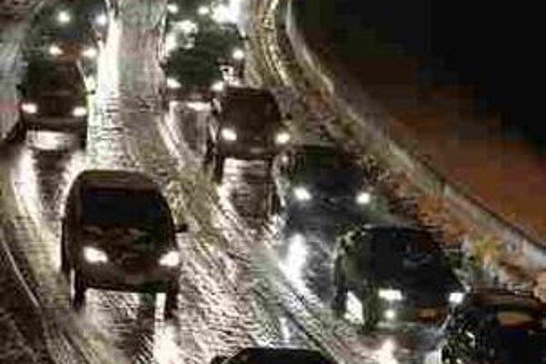 Dopravná zápcha na predmestí Washingtonu.