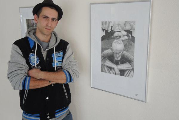 Martin Šik. Amatérsky výtvarník prepadol alkoholu na strednej škole.