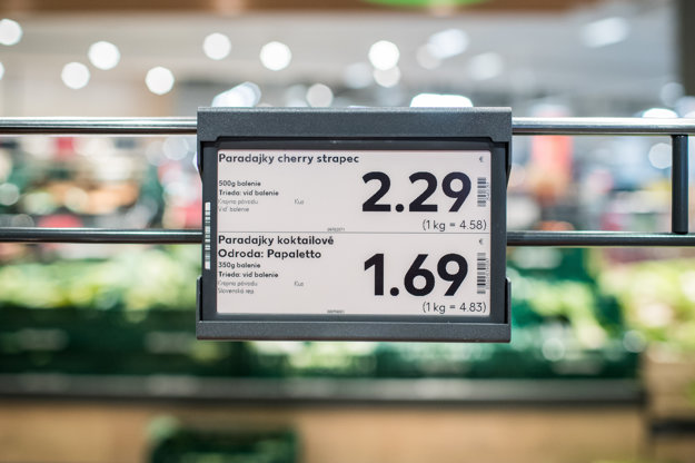 Elektronická cenovka v Kauflande.