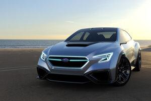 Subaru Viziv Performance Concept - Tento športový sedan naznačuje ako bude vyzerať nové Subaru WRX. Zatiaľ nie je známe aká pohonná jednotka sa skrýva pod ostrými líniami karosérie.