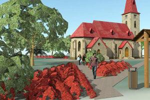 Štúdia úpravy okolia kostola.