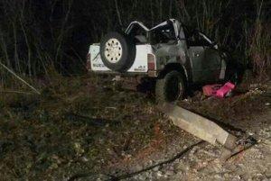V tomto aute havarovali. Podľa polície nebolo spôsobilé jazdiť.
