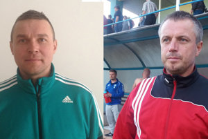Jozef Privarčák (tréner ŠK Čierne) a Vladislav Brisuda (tréner TJ Slovan Skalité).