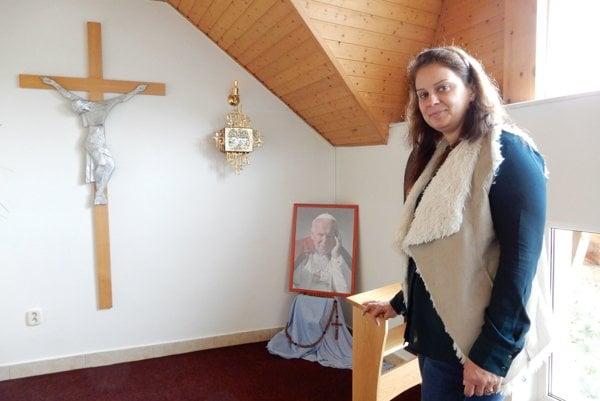 Vedúca Hospicu Matky Terezy v Bardejovskej Novej Vsi Martina Proňeková. Práci v hospici sa venuje 15 rokov.
