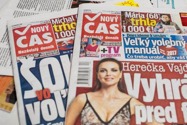 Denník Nový Čas je najčítanejší na Slovensku.