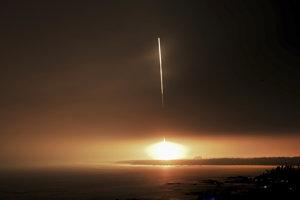 Štart čínskej vesmírnej lode.