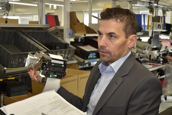 Generálny riaditeľ spoločnosti Hengstler v Kežmarku Marcel Drgala.