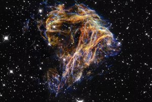 Pozostatok po supernove N 49. Z materiálu čoskoro vzniknú nové hviezdy.