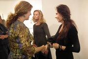 Katarína Vavrová (vpravo) v rozhovore s Alenou Teicherovou.