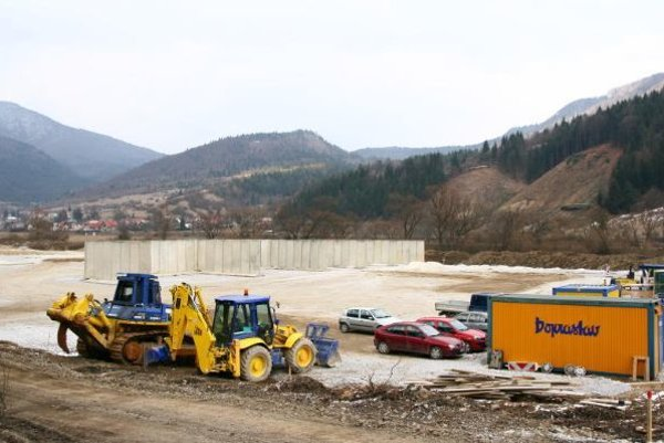 Betonáreň okolo roku 2010.