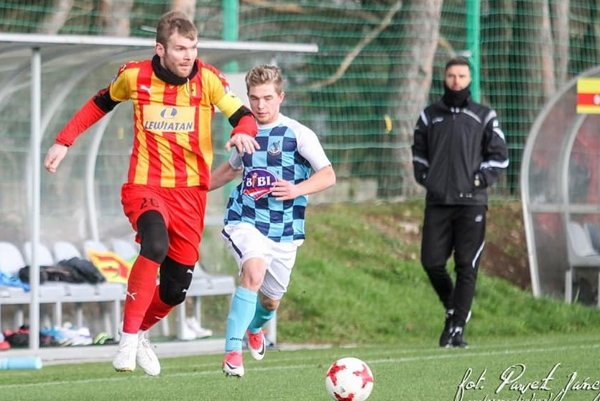 Momentka zo zápasu Korona Kielce – MŠK Tatran Krásno nad Kysucou.