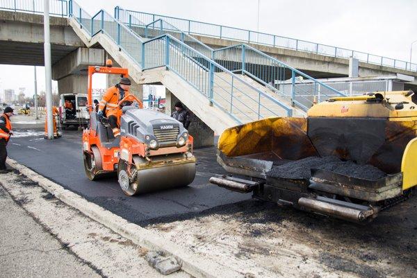 Oprava cesty na Panónskej ceste