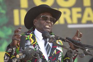 Robert Mugabe, krutá karikatúra afrického diktátora.