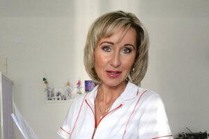 Doktorka Ganajová. V jej ambulancii petičné hárky podpísalo asi 200 pacientov.