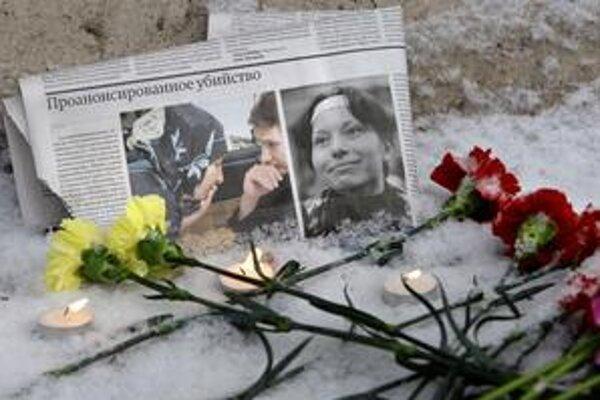 Markelovova (vľavo) a Baburovú (vpravo) zavraždili v centre Moskvy.