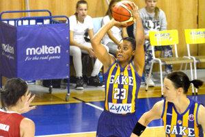 Darxia Morrisová bola v prvom zápase najlepšou strelkyňou Košíc.