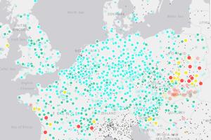 Európsky index kvality vzduchu.