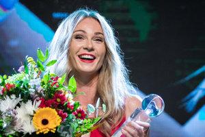 Magdaléna Rybáriková po prevzatí ceny Tenistka roka 2017.