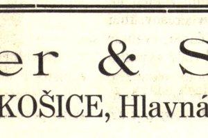 Dobová reklama firmy Fleischer a Schirger.