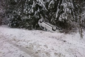 Nehoda pri Spišskom Bystrom.