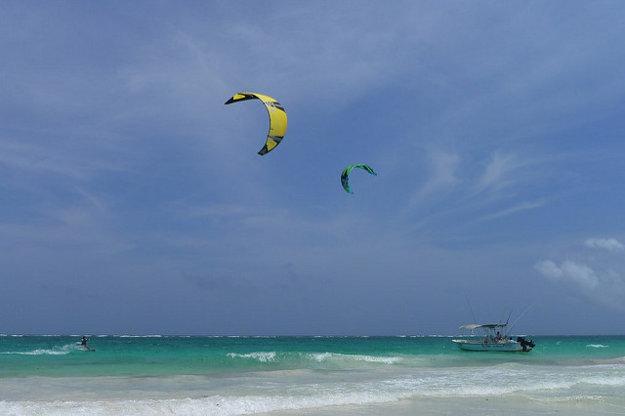 Pláž v Tulum predstavuje typický Karibik.