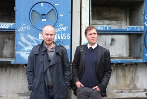 Filip Ostrowski a Juraj Koudela z vydavateľstva Absynt.