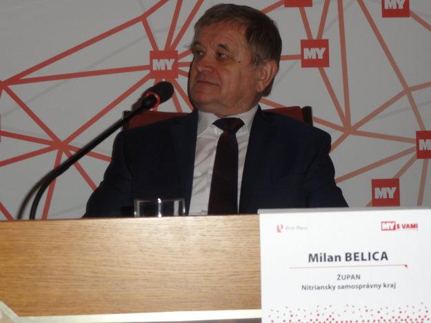 Nitriansky župan Milan Belica diskutuje na podujatí Stretnutie so županom, ktorý organizujú týždenníky MY.