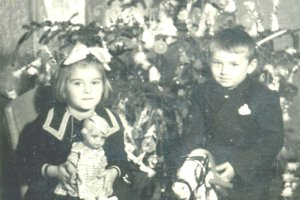 Vianoce v Košťanoch nad Turcom z roku 1946.