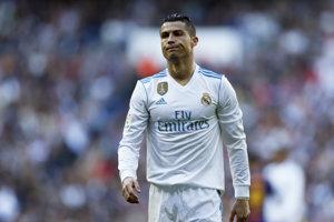 Reakcia Cristiana Ronalda počas zápasu.
