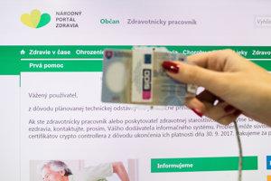 Na prihlásenie do elektronickej zdravotnej knižky treba pacientský čipový občiansky preukaz.