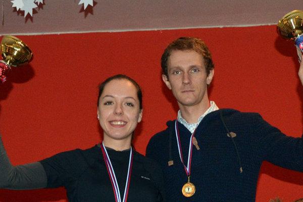 Zľava: Víťazi Andrea Hudáková a Jaroslav Szabo.