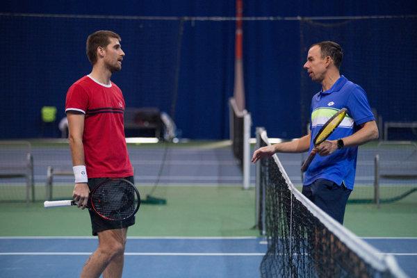 Dominik Hrbatý (vpravo) s Martinom Kližanom.