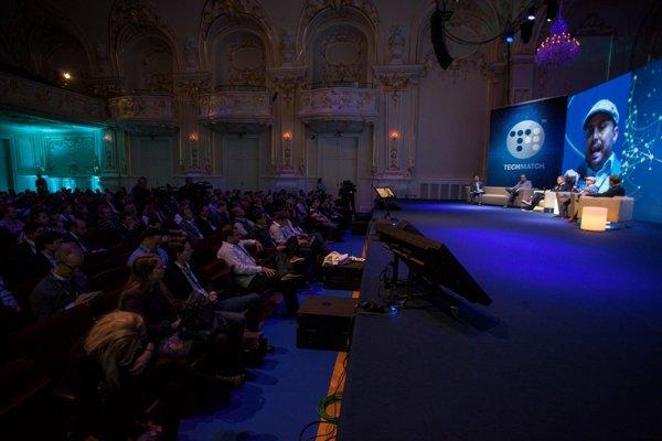 Panelová diskusia počas startupovej konferencie TechMatch 2015.